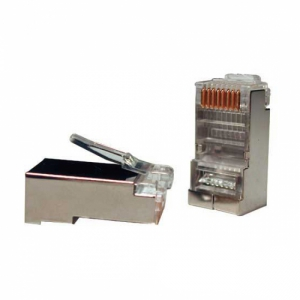 Коннектор RJ-45 8P8C FTP Cat 5e TWT, экранированный
