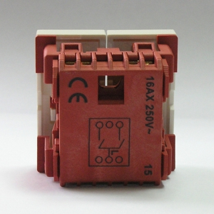 Выключатель 2 клавишный Dr.HD 16 A/250 В, 45х45