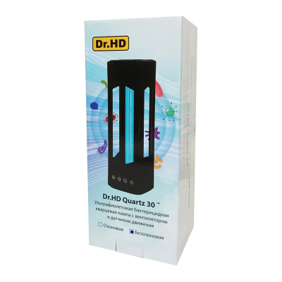 Ультрафиолетовая бактерицидная лампа с вентилятором и датчиком движения Dr.HD Quartz 30 Вт