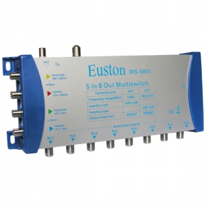 Мультисвитч 5x8 Euston MS-5801 (с блоком питания)
