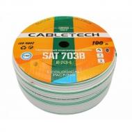 Кабель коаксиальный Cabletech SAT-703 High Quality, бухта 100 м
