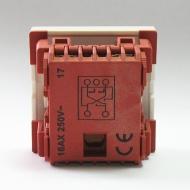 Выключатель 1 клавишный на 2 линии Dr.HD, 45х45