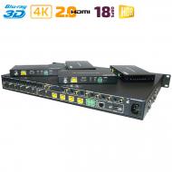 HDMI 2.0 матрица 6x6 с удлинением по UTP с HDBaseT / Dr.HD MA 666 FBT 70