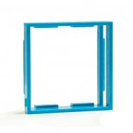 Рамка-переходник для розеток 50х50 на 45х45, синяя