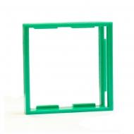 Рамка-переходник для розеток 50х50 на 45х45, зеленая