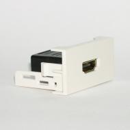 Розетка HDMI с переходником 180º / Dr.HD SOC HDMI 180º CM